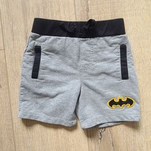 (3/$15) Batman Gray/Black Baby Shorts